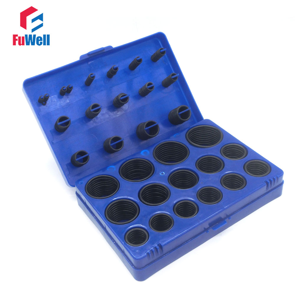 382pcs Black NBR O Ring Seal Kit 30 Different Sizes Rubber O-ring Sealing Gasket Assortment Set with Blue Plastic Case 300pcs red silicon o ring seal kit 15 different sizes o ring gasket set vmq o ring assortment set with plastic case