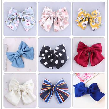 Newnest  Print Quality Large Barrette Hair Clip 2 Layers Large Bow Hair Clip For Women Barrettes Girls Hair Accessories new hot resin acetate hair clip women hair accessories hair clip girls hair pins sweet daily headwear barrette for women girls