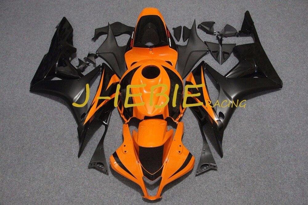 Orange black Injection Fairing Body Work Frame Kit for HONDA CBR600RR CBR 600 CBR600 RR F5 2007 2008