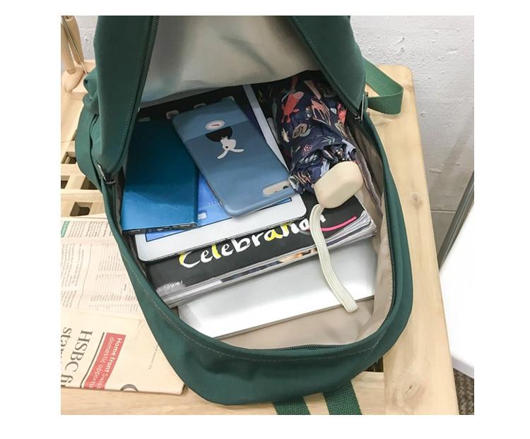 HTB1iEYQXAH0gK0jSZPiq6yvapXaj 2019 Backpack Women Backpack Solid Color Women Shoulder Bag Fashion School Bag For Teenage Girl Children Backpacks Travel Bag