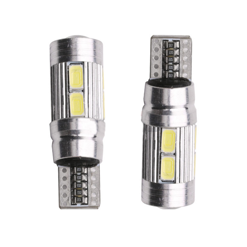 2Pcs T10 Car Light Bulb 5630 10 SMD W5W Auto Led Lamp 12V Automobiles Parking Tail Trunk License Light-emitting Diode Lamp