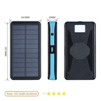 20000mAh LED Solar Power Bank Folding Foldable Portable Solar Panel Solar Charger External Battery Solar Powerbank For Phone 5