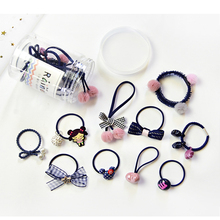 2019 new 10pcs childrens jewelry set Korean version of the cute baby hair band rubber high elastic rope