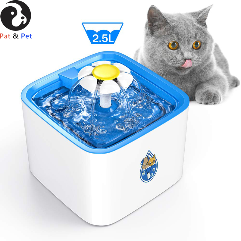 Pet Water Fountain, 2.5 L Automatic Electronic Pet Fountain, Cat Water Fountain, Super Quiet Water Dispenser for Dog Cats