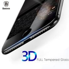 Baseus 3D дуга полный изогнутый экран протектор Закаленное стекло для iphone 6 7 плюс стекло Защита Flim Для iphone 6S 7 экран пленка