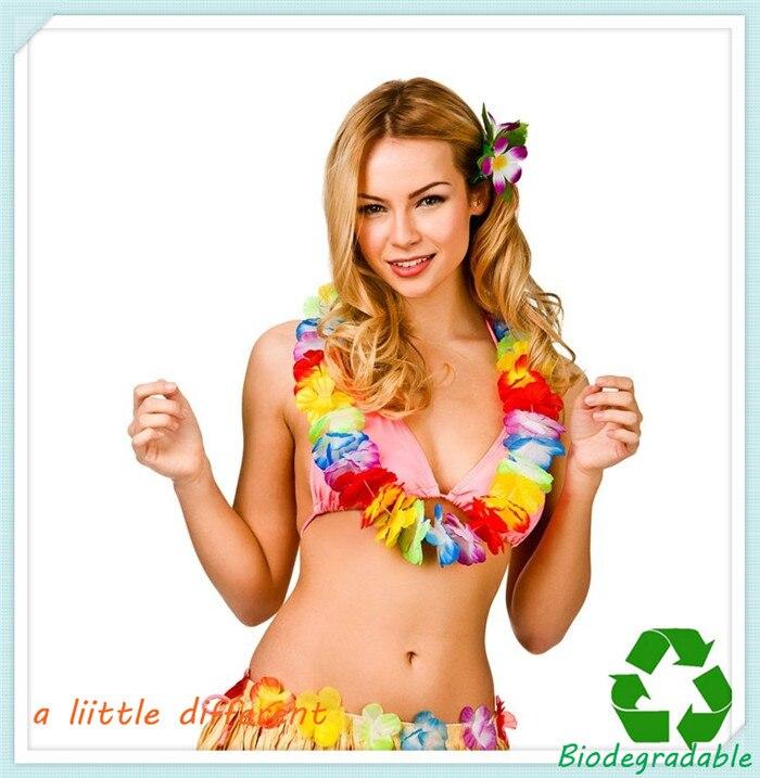4c24e98a6caf 12pcs/lot L=0.5M Decorative Hawaiian Leis For Luau Tropical Themed  Celebrations Beach Fancy Dress Party Supplies