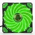 120mm LED Ultra Silencioso Ordenador PC Case Fan 15 LEDs 12 V Con Caucho Tranquila Molex Conector Fácil de Instalar ventilador