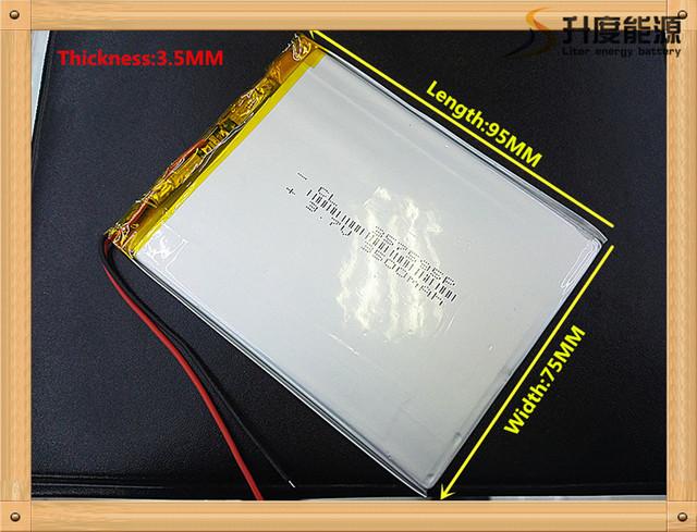 La generación 7 357595 pulgadas tablet pc batería enfriar X5 aucan M70 Newman T7S 357595 3500 MAH