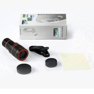 Image 5 - Telefon fotoğraf teleskop 8X kez telefoto HD telefon mercek için evrensel lens iphone X 8 7 6 s xiaomi HUAWEI samsung akıllı telefon