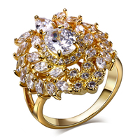 Lan Palace Bagues De Luxe Marque Femmes AAA Cubic Zirconia Wedding Jewelry Gold Plated Natural Stone