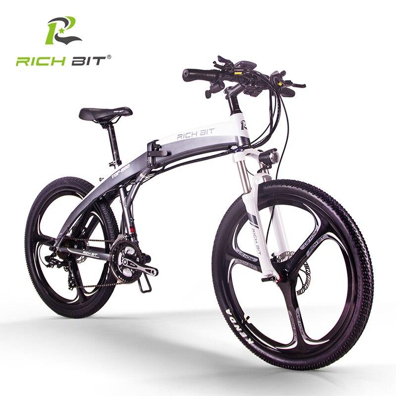 RichBit nouveau RT-880 vélo électrique pliant ebike montagne vélo électrique européen livraison rapide li-on 36V * 250W 9.6Ah batterie