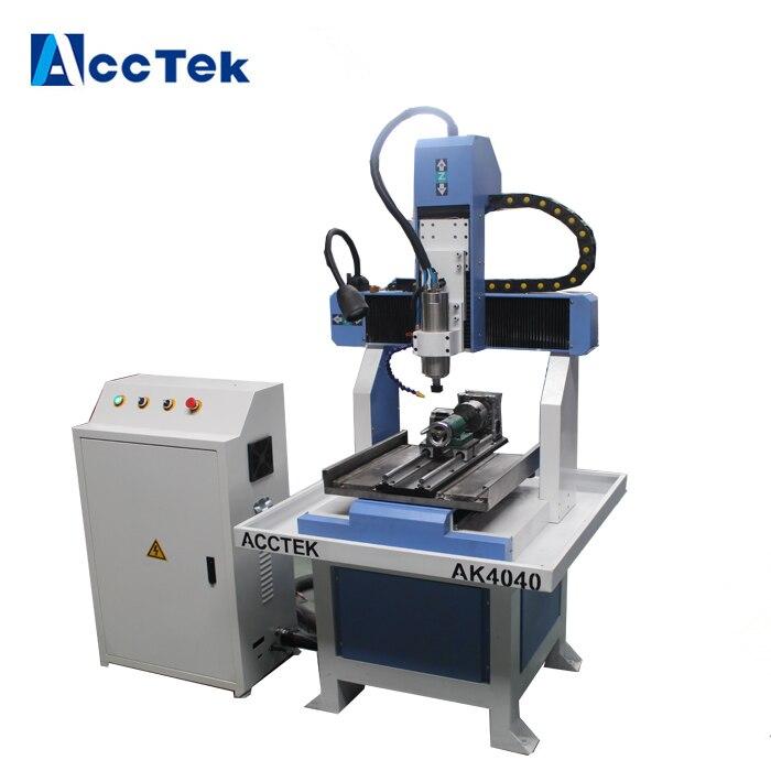 mini 4040 cnc 4 axis cnc router metal cutting machine , 3d cnc milling machine for metal