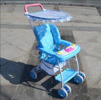 Light Portable Baby Four Wheels Umbrella Stroller Folding Shock Absorber Summer Breathable Bamboo Vines Child Trolley Baby Pram