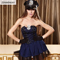 Women Wear Sex Clothes Sexy Police Officer Costume Sexy Cosplay Lingerie Role Playing Sexy Clothes Slutty Outfit 3 Pieces Set