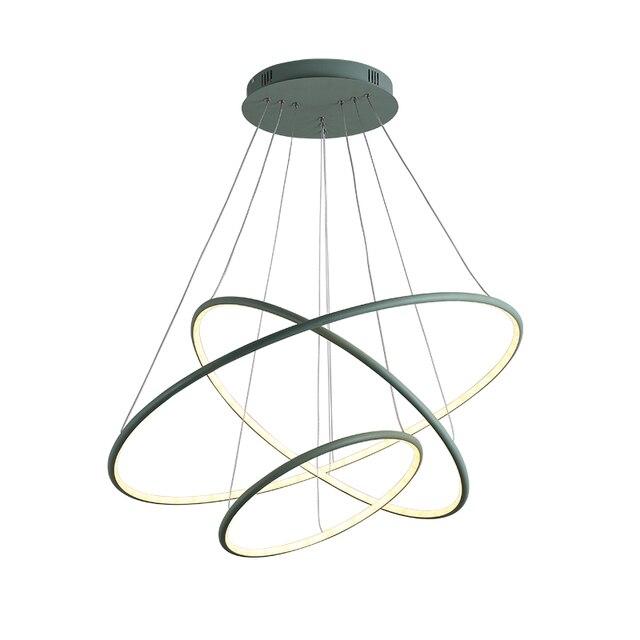 OPKMB Modernen Ring Pendelleuchte Für Esszimmer Bunte Runde Pendelleuchte  Für Wohnzimmer Dekoration Beleuchtung