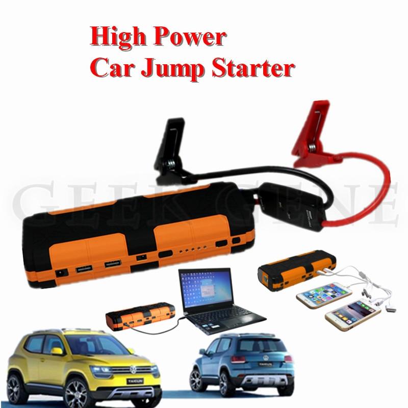 High Capacity 12V Car Jump Starter Portable 600A Peak Car Batery Booster Charger 5V 2A Power