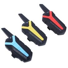 2 pcs X3 Plus Motorcycle Helmet Bluetooth Intercom 3KM Group walkie talkie PTT Control Bicycle Waterproof BT Interphone