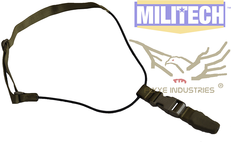 Military Spec Coyote Brown CB GI Style MP7 Machine Gun Tactical Gun Safety Sling FLYYE FY-SL-S008 Safety Working Sling