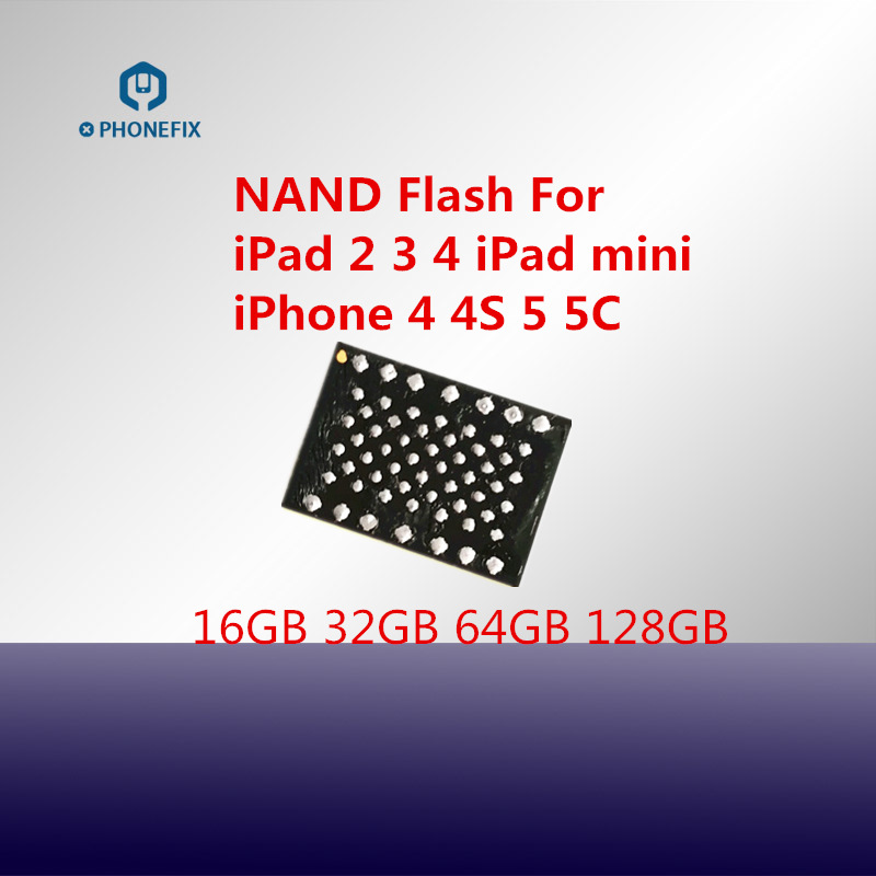 PHONEFIX NAND Flash IC Chips With Soldering Balls NAND Replacement Upgrade Memory For IPad 2 3 4 Mini Hard Disk HDD Chip