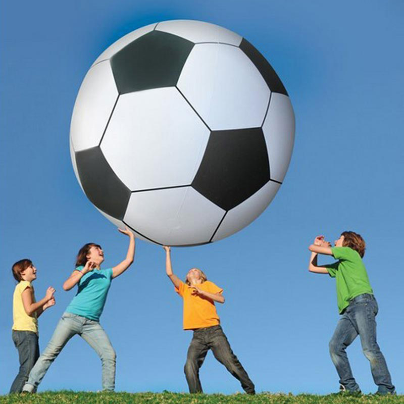 107cm Super big inflatable football soccer design inflatable beach ball toy sport toy pvc playground game school kid play inflatable water spoon outdoor game water ball summer water spray beach ball lawn playing ball children s toy ball