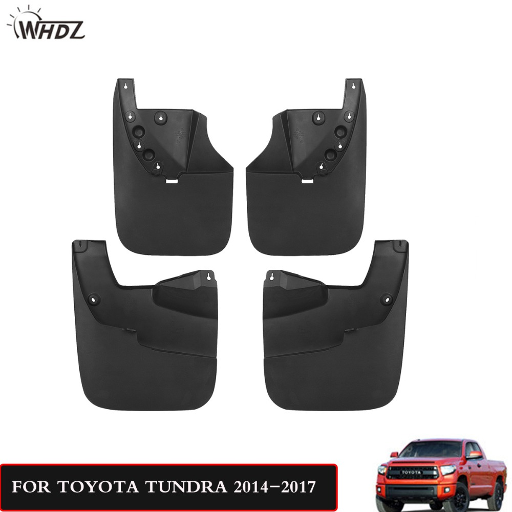 WHDZ Mud Splash Guards Flaps for 2014 2015 2016 2017 Toyota Tundra Accessories