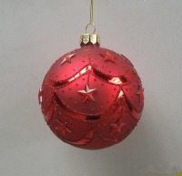 Free Shipping 1PC Christmas Ball Red Color Gift 8cm Diameter Decoration Pendant