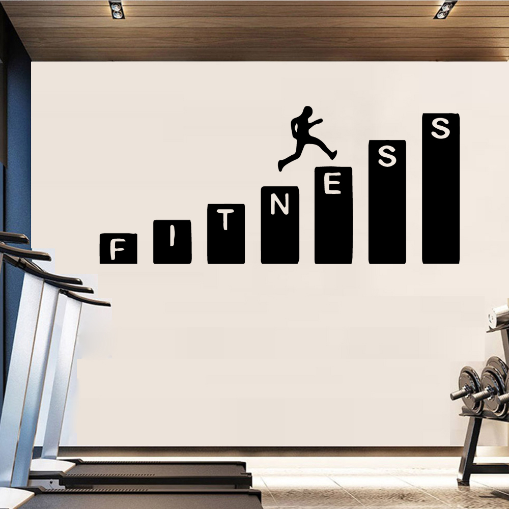 3D Fitness Wall Stickers Modern Fashion Wall Sticker Removable Wall Sticker Art Decals