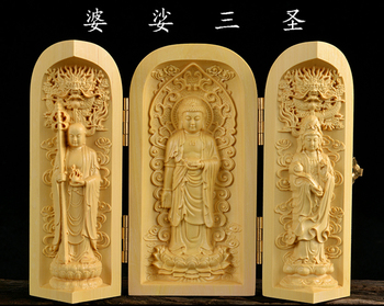 Sacred holy Talisman # office home efficacious Protection FENG SHUI Bless family health safety Wood carving  ART statue