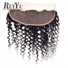 7A Brazilian Lace Frontal Closure Human Hair Closure Soft Lace Frontal Brazilian Water Wave Ear To Ear Lace Frontal Closure 13×4