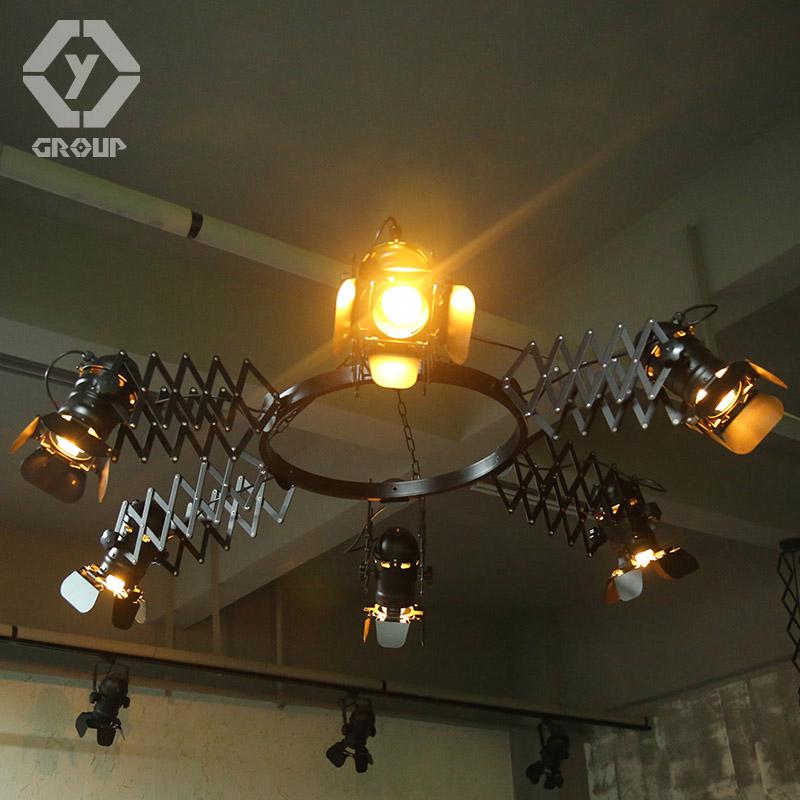 OYGROUP Retro Loft Dehnbar Deckenleuchte Einstellbar Wohnzimmer Pub Bhne Club Cafe Hebe Lampe Versendet Aus Spanien