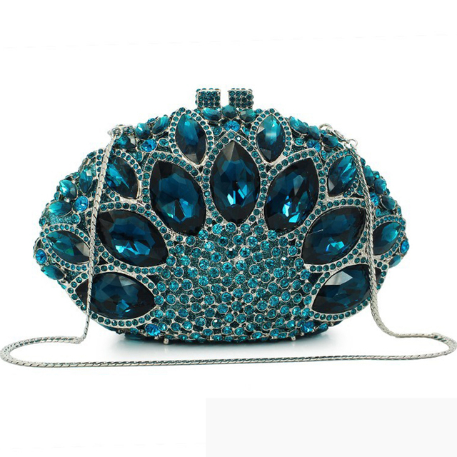 Diverse Color Rhinestone Crystal Evening Clutches  1