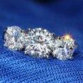 4 Carat Lab Grown Moissanite ct F Cor da Faixa Do Casamento Sólido 14 K 585 Ouro Branco de Noivado de Diamante Para As Mulheres