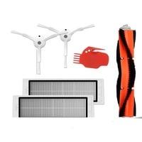 6pcs Vacuum Cleaner Parts 2 Side Brush 2 HEPA Filter 1 Main Brush 1 Tool Suitable