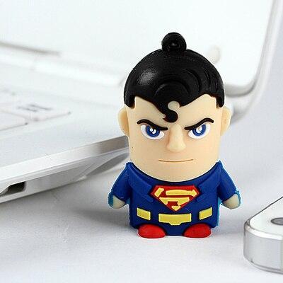 NEW Fashion Pendrive Superman Cartoon Usb Flash Drive 32GB 16GB 8GB 64GB Cute Pen Drive 128GB 512GB Pendriver Mini Key Gifts