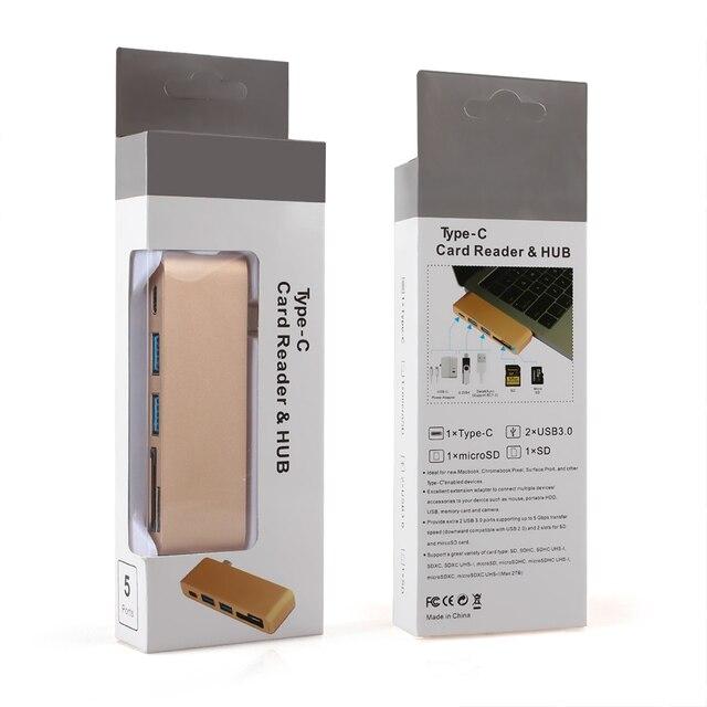 USB C Hub Per Slot per lettore di Schede di DEVIAZIONE STANDARD TF Hub 3.0 PD Thunderbolt 3 USB C Hub Adapter per MacBook New pro Air 12 13 15 16 2020 2019 A2141 6