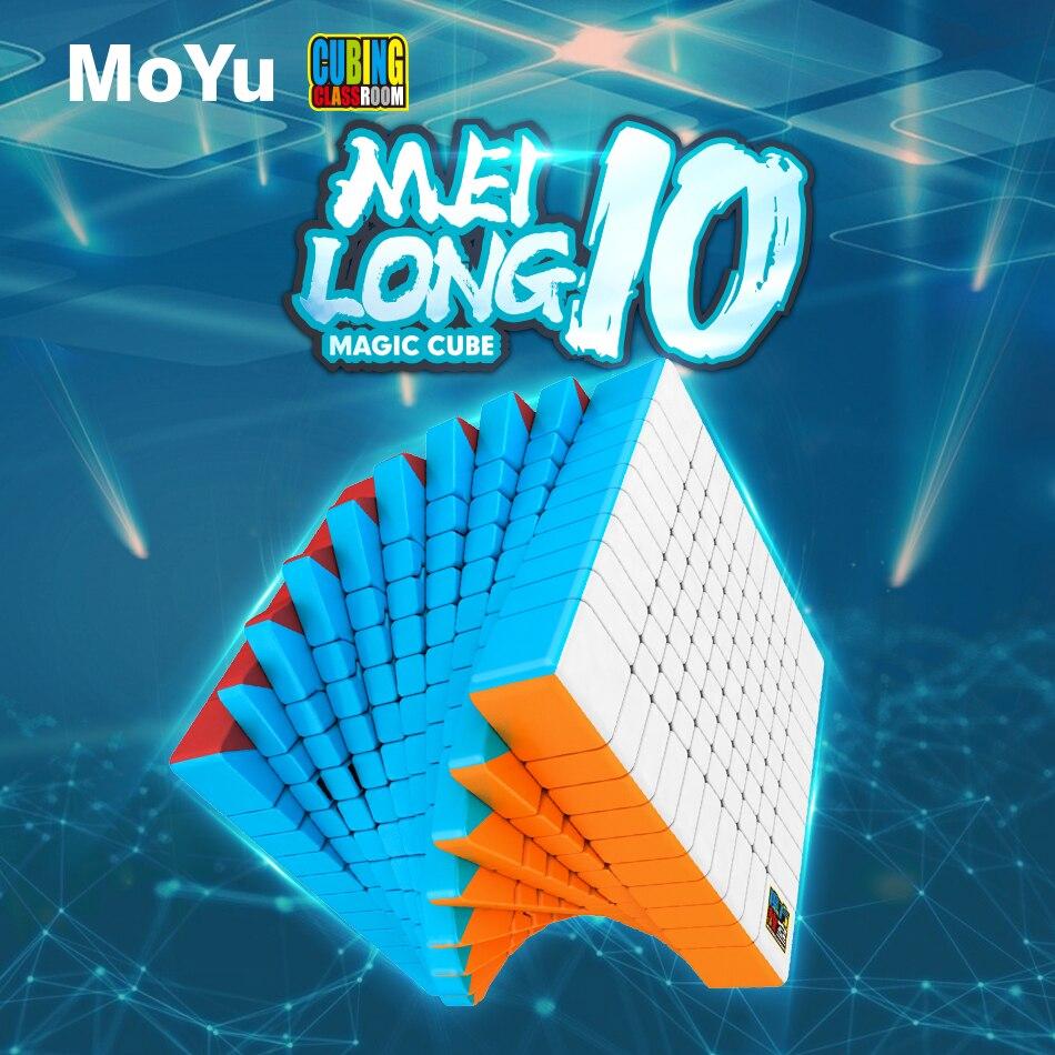 Nouveau MoYu Cubing salle de classe Meilong 10x10x10 professionnel sans autocollant Puzzle Cube magique vitesse Cube jouets éducatifs pour les enfants