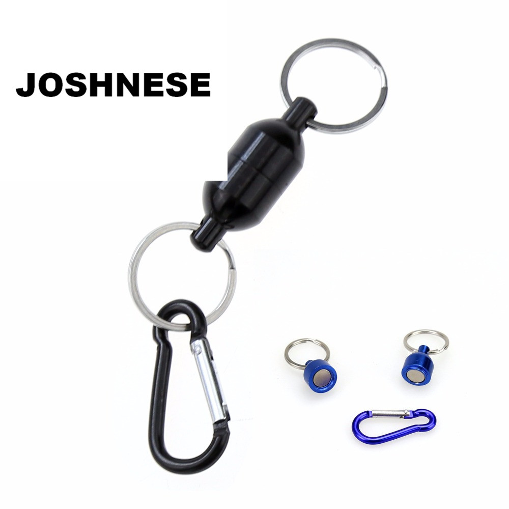 High Quality Black/Blue Color Magnetic Net Release For Fly Fishing Landing Net Holder Keeper Stainless Steel Accessories