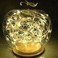2 conjuntos de 10 metros 100 LEDs DC5V micro lâmpada LED estrela Do Natal fio de cobre à prova d' água branco quente + CE UL adaptador de alimentação listada