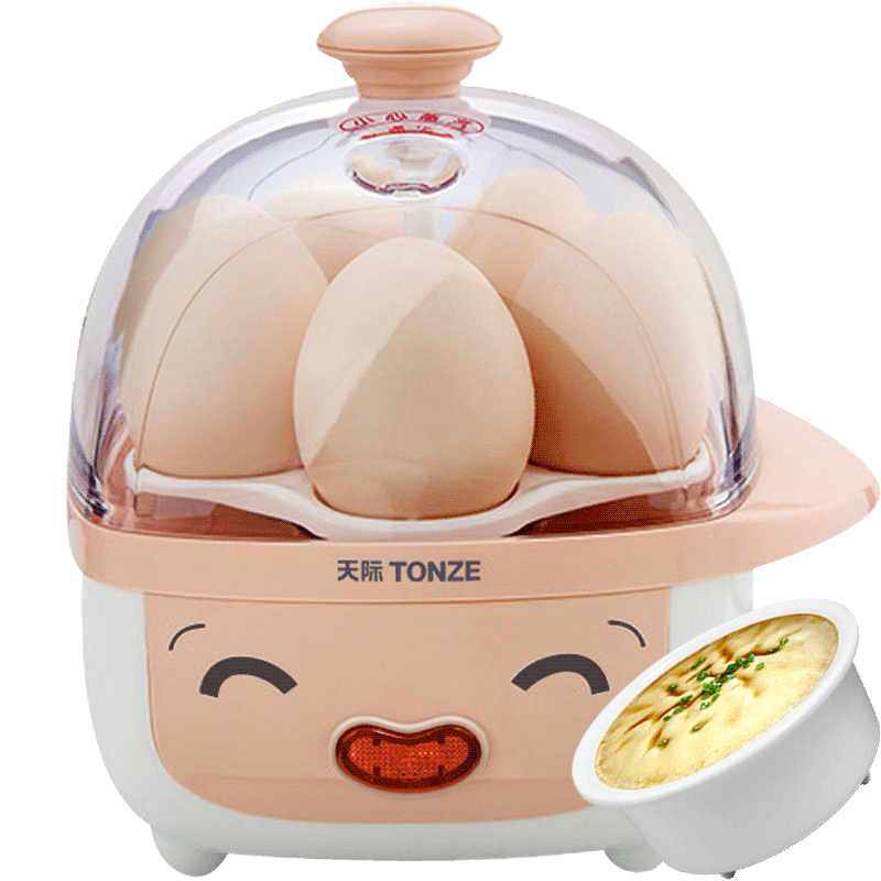 Tonze Mini Multi Electric Egg Boilers 200W of 5 Eggs Cute Egg Steamer Mini Steam Cooker Breakfast Artifact cukyi household electric multi function cooker 220v stainless steel colorful stew cook steam machine 5 in 1