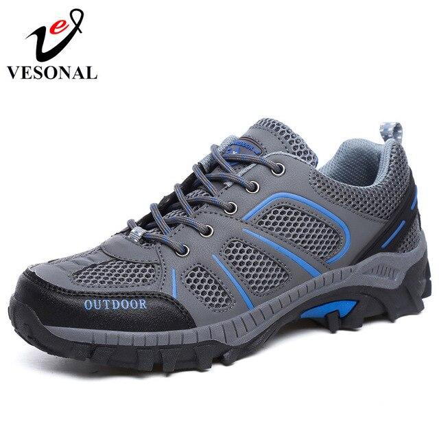 VESONAL 2019 Amante Primavera Verão Masculino Respirável Malha Sapatos Para Homens Tênis Adulto Andando Casais Marca Calçados Casuais Luz