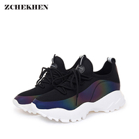 2018 Hip hop rue papa sneakers mode femmes casual chaussures marque superstar sneakers chaussures non-slip respirant chaussures de marche