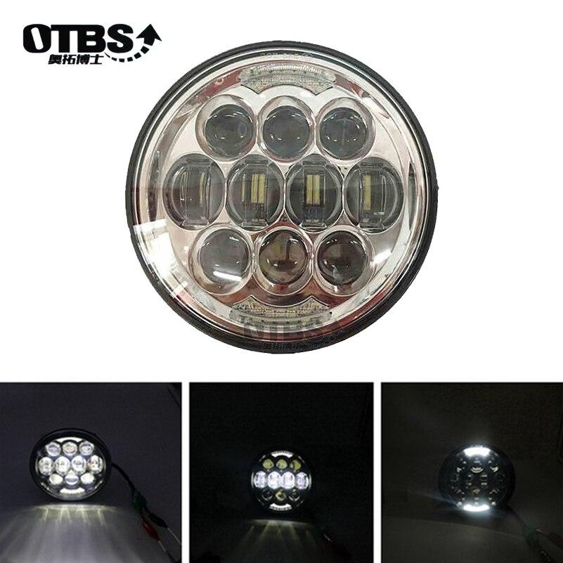 OTBS moto 5-3/4 5.75 phare LED pour vélo 883, Sportster, Triple, Low Rider, projecteur de phare à large glisse