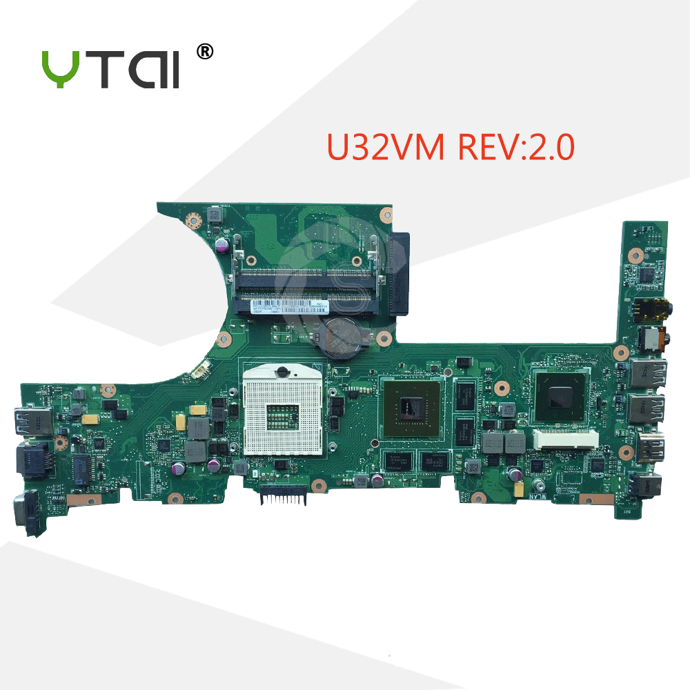 все цены на YTAI For ASUS U32VM laptop motherboard REV2.0 HM65 PGA989 USB3.0 mainboard fully tested онлайн