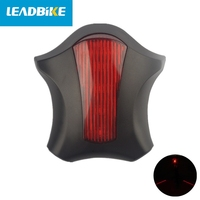 Leadbike 사이클링 프로젝션 레이저 테일 라이트 3 색 led abs 고무 밴드 및 자전거 미등 방수 깜박임 모드 a96