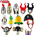 NEW American astronaut cap Adult Roman Soldier Warrior Gladiator Fancy Dress Costume Helmet Hat A variety of party carnival hats