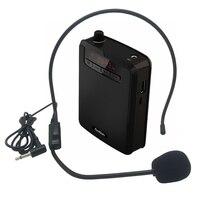 Rolton Draagbare Voice Versterker Taille Band Clip met FM TF MP3 Powerbank voor Gidsen, leraren Onderwijs Microfoon