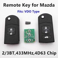 Remote Car Key For MAZDA 2 3 5 6 M2 M3 M5 M6 Demio Axela Premacy