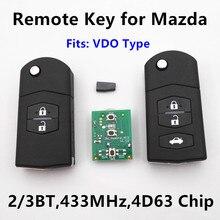 Dominante alejada Del Coche para MAZDA 2 3 5 6 M2 M3 M5 M6 Axela Premacy Demio Atenza 433 MHz VDO tipo