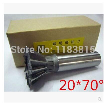 Frete grátis 1 Pcs 20 mm x 70 grau HSS Dovetail cortador fresa