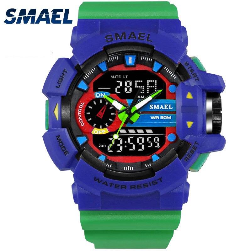 Men Watches Military Dual Time Display Wristwatch Male Clock Fashion Casual Watch 1436 LED Digital Watches Sport Wrist Watch Man